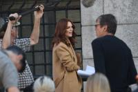 Julianne Moore - filming L'Oreal ad NYC Sept 16/18
