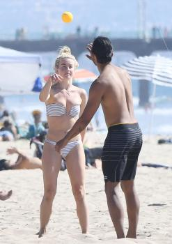 Julianne Hough in a bikini at the beach Newport Beach 9/23/18